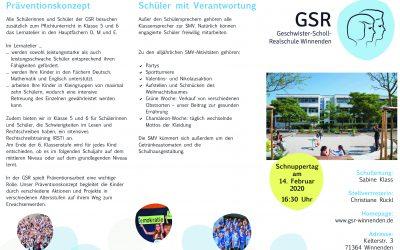 Info-Flyer zum Schnuppertag